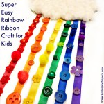 Super Easy Rainbow Ribbon Craft for Kids