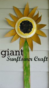 Giant-Sunflower-Craft-_no time for flashcards