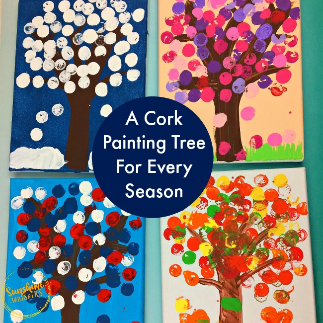 A Cork Painting Tree For Every Season!