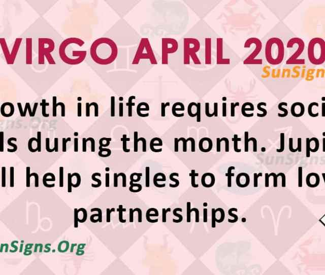 Virgo April  Monthly Horoscope Predictions Sunsigns Org