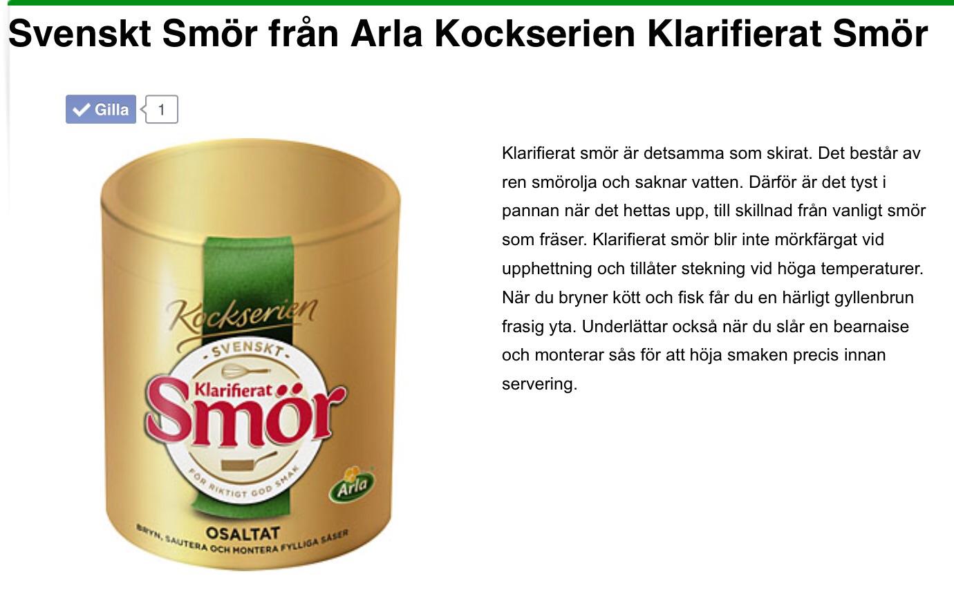 vad är klarifierat smör