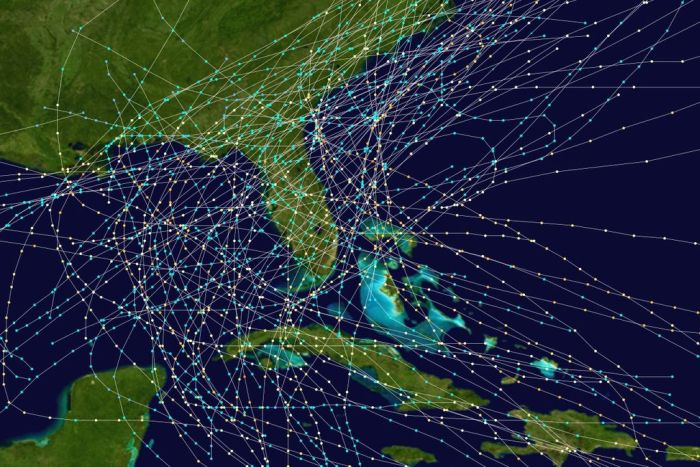 hurricanes tracking