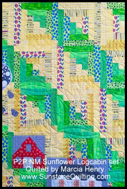 Marcia Henry Sunflower logcabin (400x600)