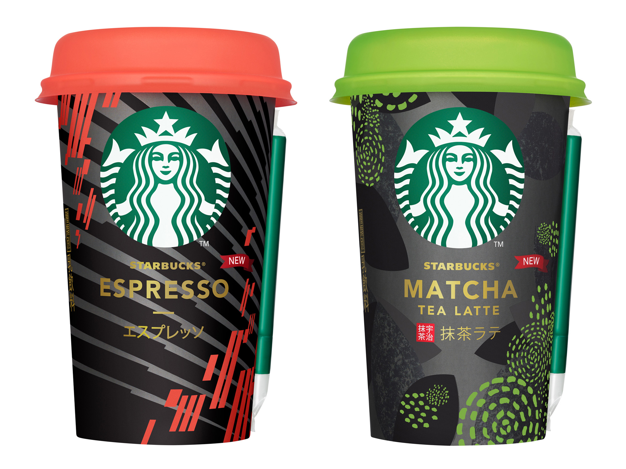 スターバックス チルドカップ「エスプレッソ」、「抹茶ラテ」リニューアル