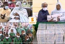 """Projet """"Zéro enfant dans la rue"""" : Ndeye Saly Diop Dieng alimente les Daaras de DakarParMangoné KA 14/04/2021 à 10:10"""