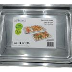 10 Sabert Plastic Food Sandwich Party Platter Large Small Serving Trays Silver