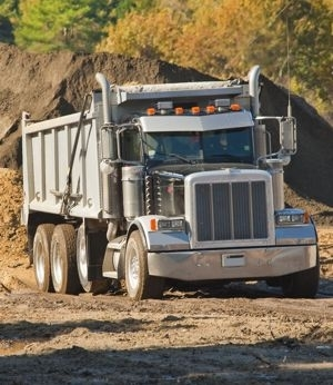 Dump truck and gravel business - small