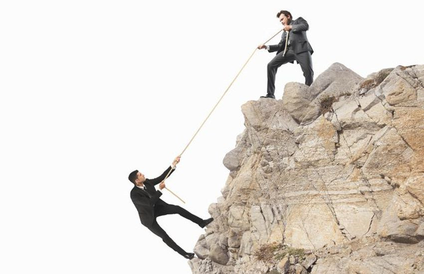 Teamwork Helping Employees Climb and Succeed