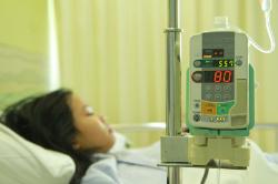 Sick Child in Hospital