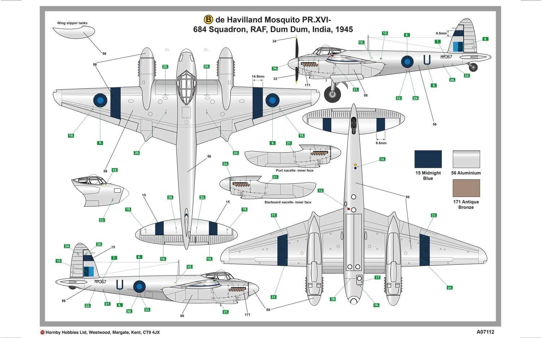 Airfix De Havilland Mosquito Prxvi 1 48 Scale A