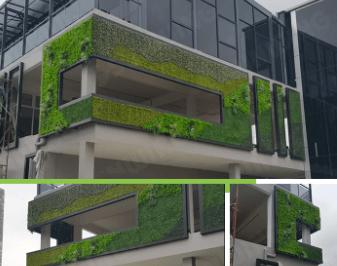 Building Exterior Façade plants wall