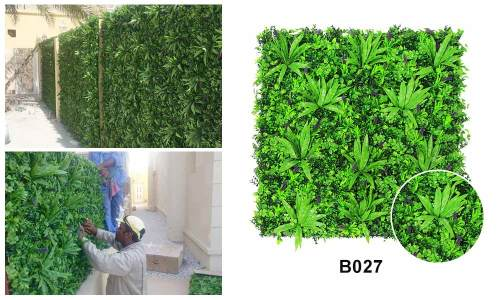 B027 artificial leaves wall