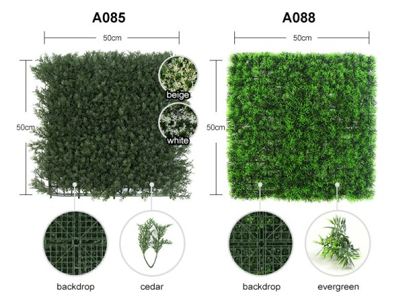 details of A085&A088 artificial hedge mats