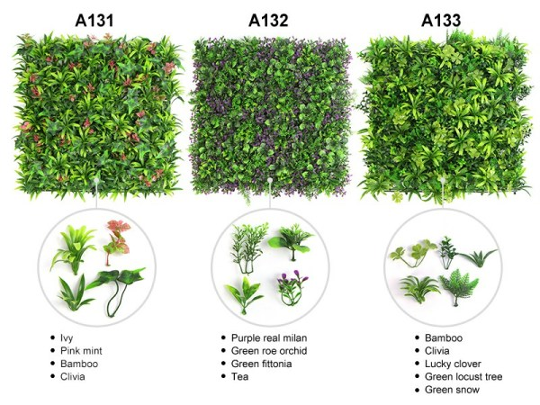 examples of artificial hedges leaves