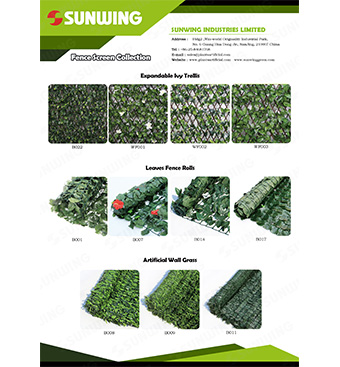ivy scree rolls trellis and artificial wall grass wholesale