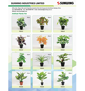 sunwing artificial potted plants