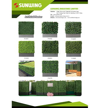 sunwing hedges planters for screen
