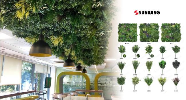 Ceiling decor for a restaurant