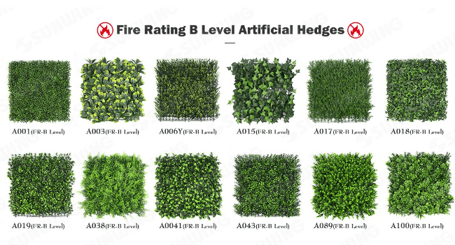 Sunwing Fire Rated Level B Artificial Hedges