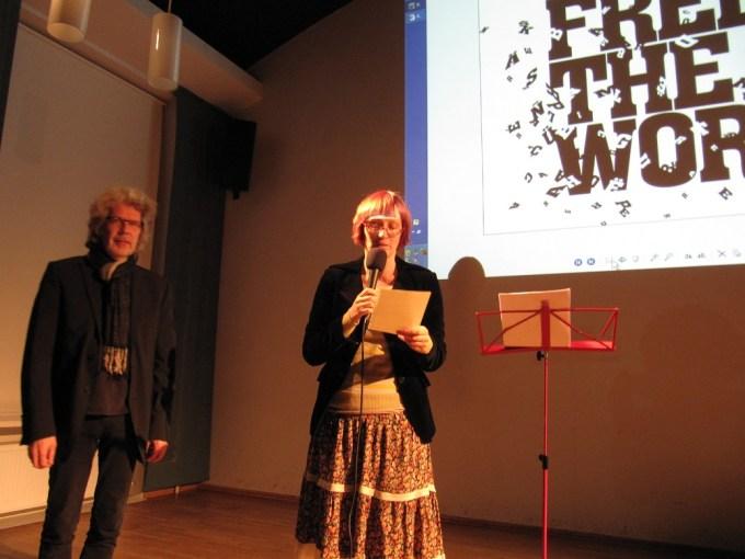 Suomen PEN Tallinnassa 23.11.2011. Leevi Lehto ja Kätlin Kaldmaa