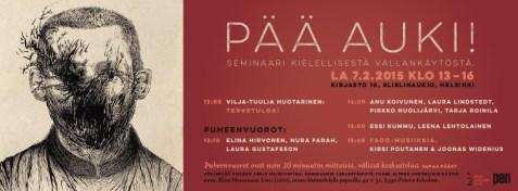 PÄÄ AUKI! -seminaari