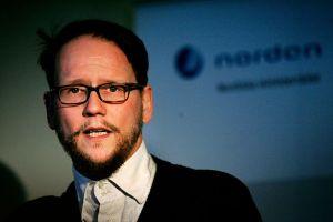 Pohjoismais-virolainen verkostotapaaminen tuo Helsinkiin Islannin PEN:in puheenjohtajan Sjónin. (Kuva: Magnus Fröderberg, norden.org (CC BY-NC-SA 4.0))