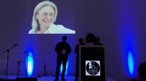 Anna Politkovskajaa muistettiin kansainvälisessä PEN-kongressissa Santiago de Compostelassa lokakuun alussa. (Kuva: Jarkko Tontti)