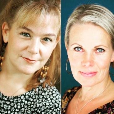 The event is hosted by authors Annina Holmberg & Nina Honkanen. Photos: Siltala (/Laura Malmivaara)