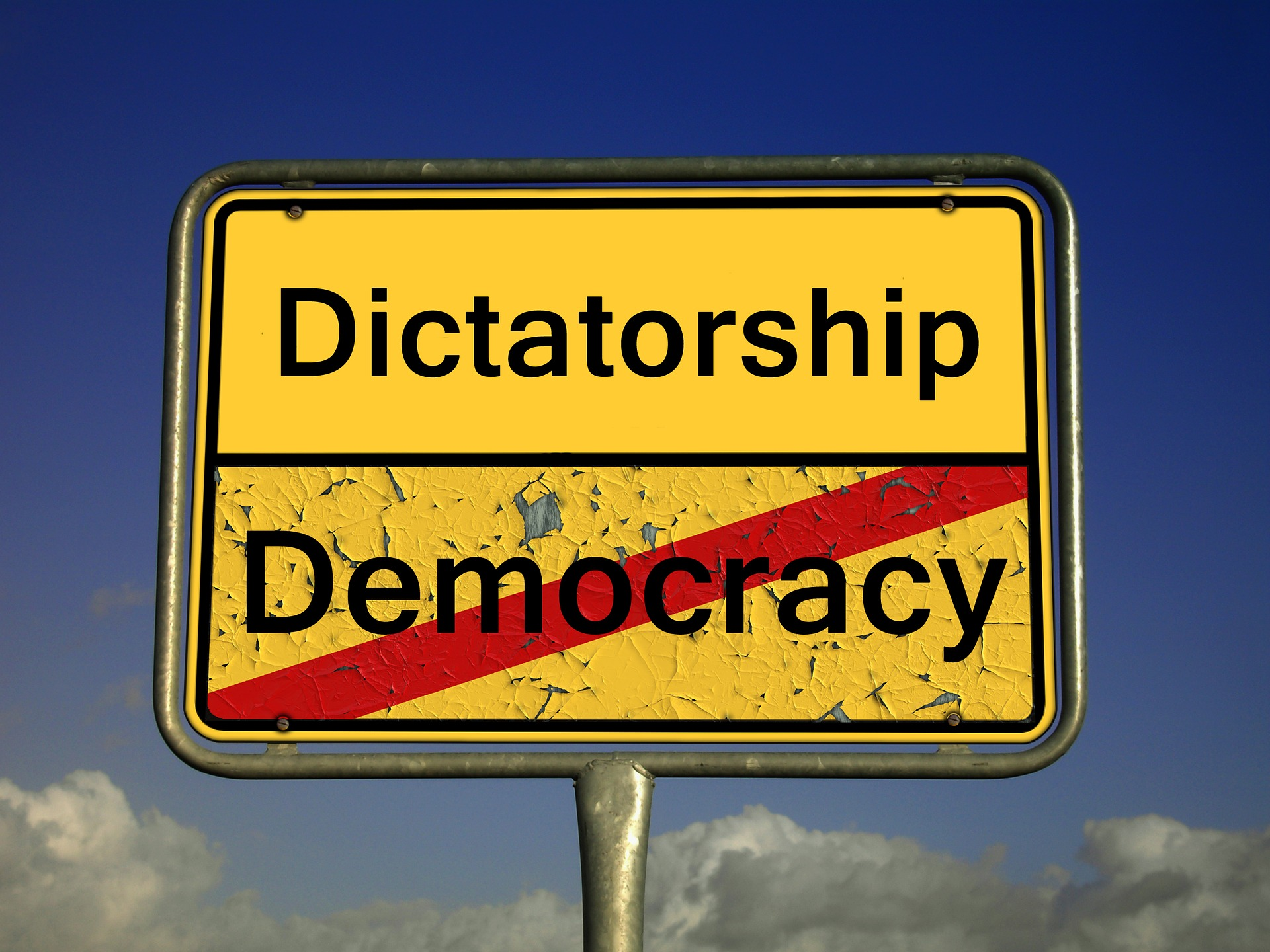 Diktatuuri on demokratian vastakohta
