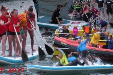 GIANT STAND UP PADDLE BOARD RACE