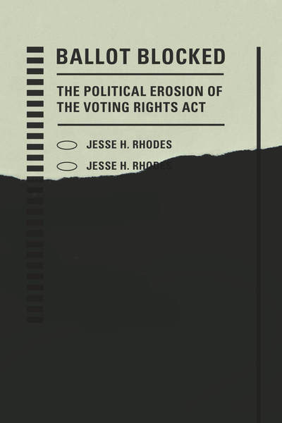 Cover of Ballot Blocked by Jesse H. Rhodes