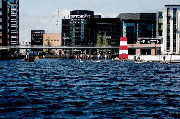 Racing, Copenhagen Harbour, during the Danish Standup Paddle Championship