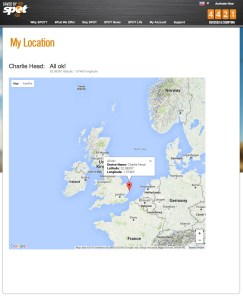 Charlie's 'Find Me' screen.