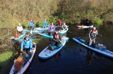 Bray Lake litter pick paddle