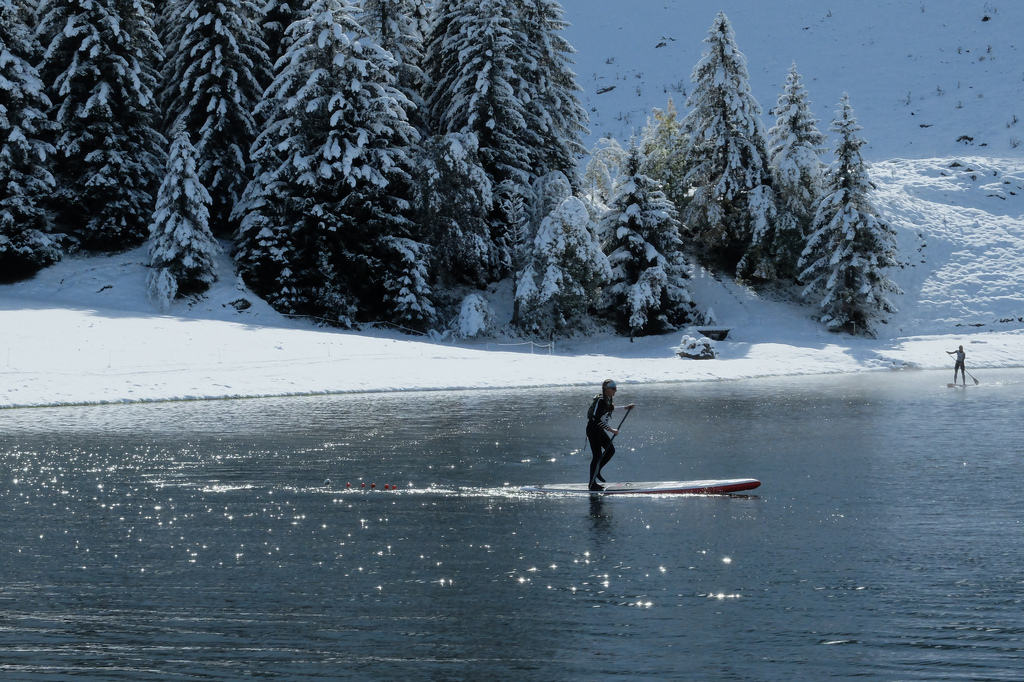 Snow stand up paddle board