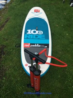 Board pumped to rock hard 18 PSI