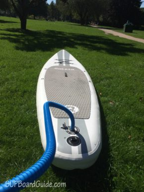 Pumping up my SUP