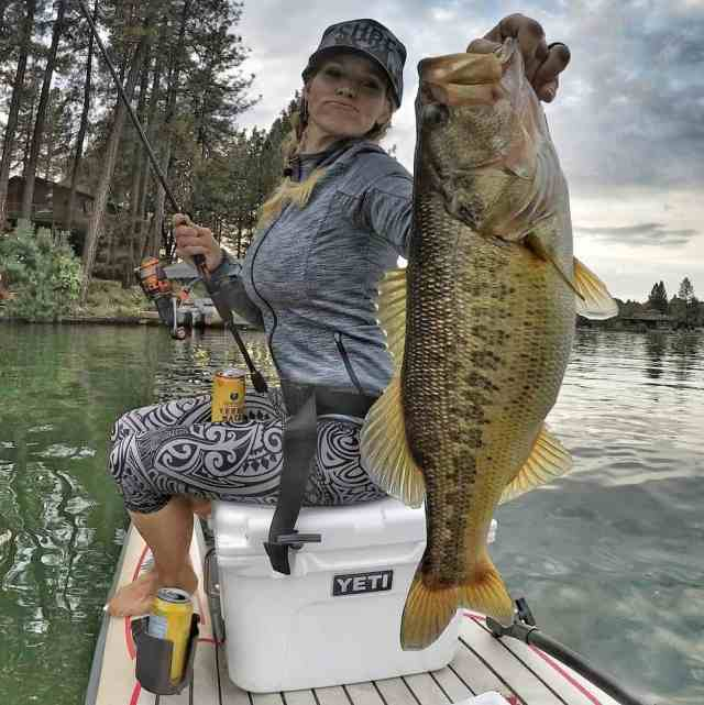 "Chris Hollingsworth and his wife are huge SUP fishing enthusiasts. He admits that ""My wife catches bigger fish than me,"" there's no denying it in this picture."