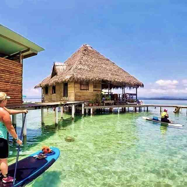There is only two ways to reach this restaurant in Panama, it's either by boat, or a paddleboard.