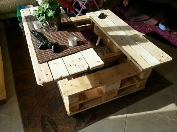 table basse en palette 56 idees a ne