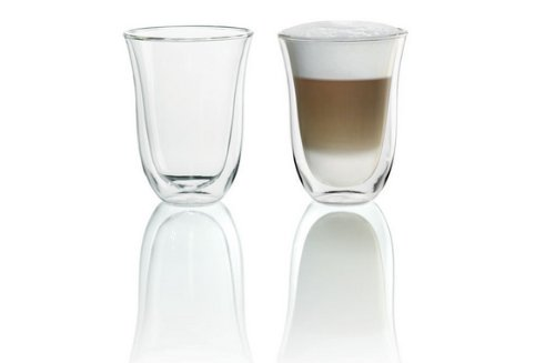 DeLonghi Double Walled Thermo Latte Glasses