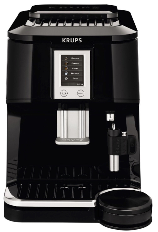 KRUPS EA8442 Falcon Fully Automatic Espresso Machine with Latte Tray and Built-in Conical Burr Grinder