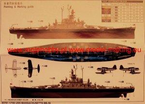American Battleship USS Massachusetts (BB59) Trumpeter 05761