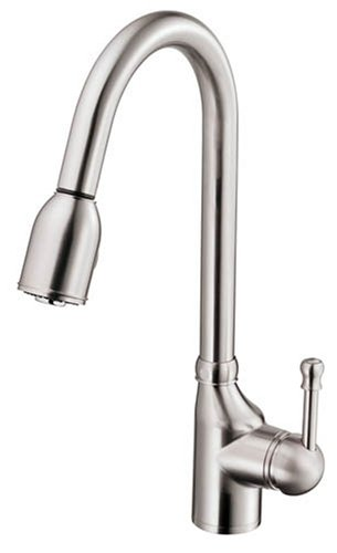 Danze D457015SS Melrose Single-Handle Pull-Down Kitchen Faucet, Stainless Steel