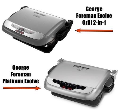 George Foreman Evolve vs Platinum Evolve