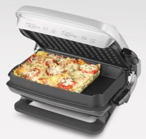 George Foreman GRP4EP Platinum Evolve Grill with 2 Grill Plates_
