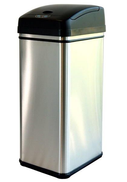 iTouchless Deodorizer Touch-Free Sensor 13-Gallon Automatic Stainless-Steel Trash Can