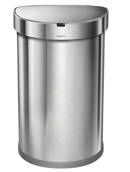 simplehuman Stainless Steel Semi-Round Sensor Can