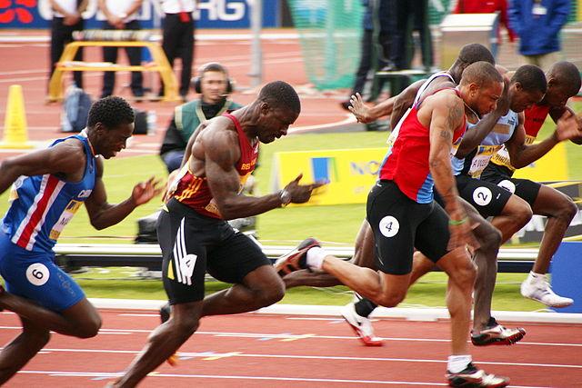 Olympische Sprinter Muskeln