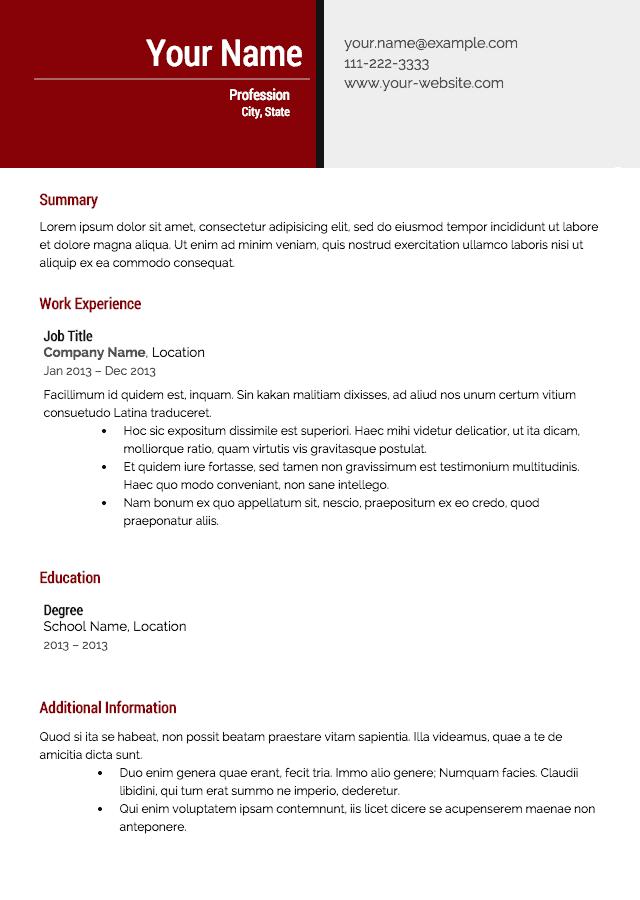 Best Resume Builders for 2017 - Resume Builder Reviews